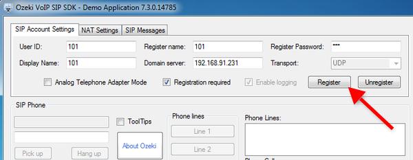 Ozeki C# SIP Stack - Kamailio pbx setup