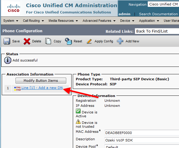 Ozeki C# SIP Stack - Cisco Unified Communications Manager